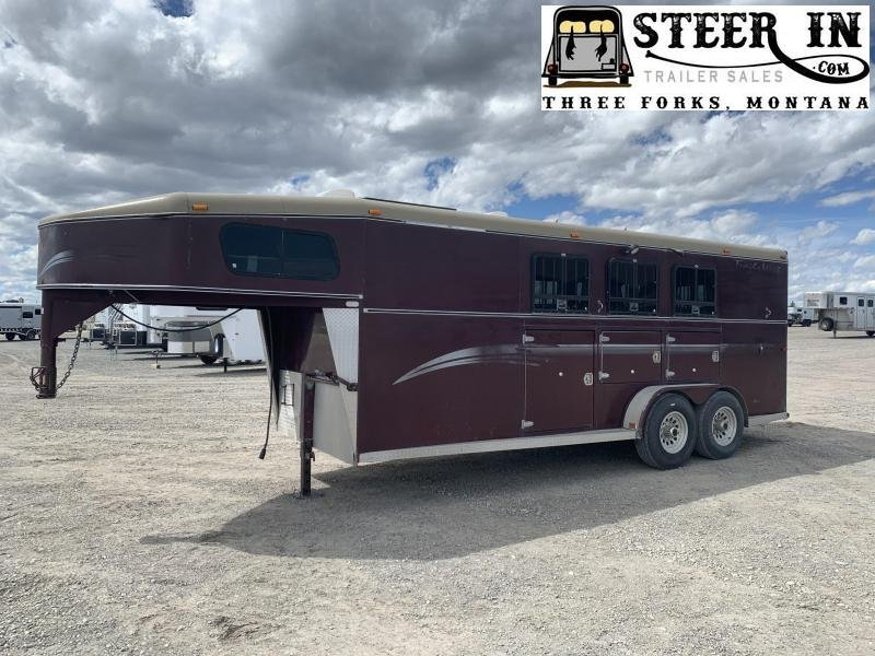 1999 Trails West 3H GN Horse Trailer