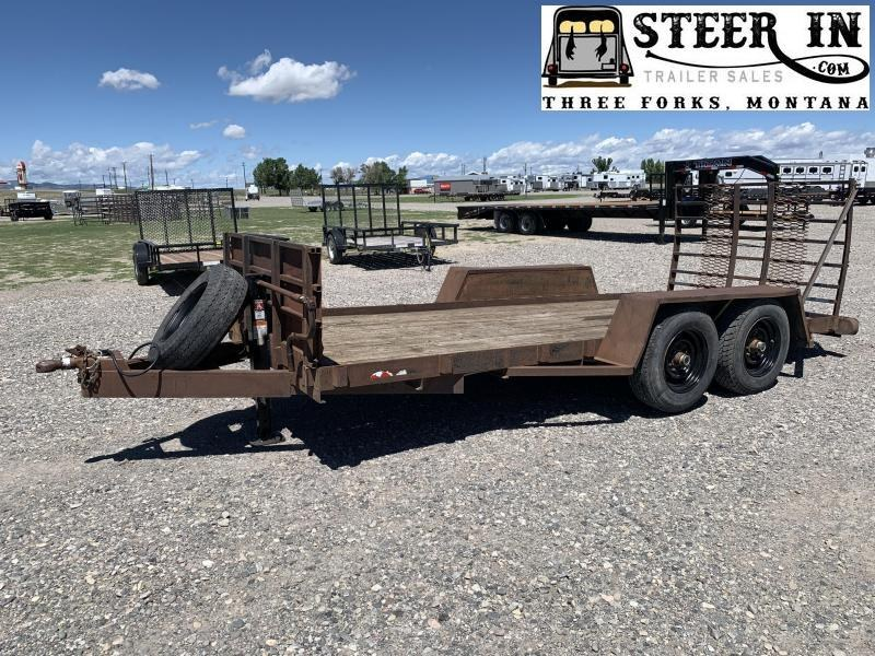 "1986 Homemade 15'9""  Equipment Trailer"