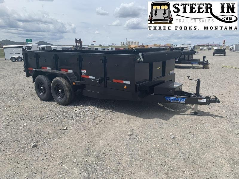 "2021 Top Hat 83""x14"" DP140 Dump Trailer"