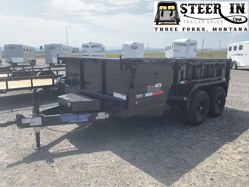 "2020 Top Hat 77""x12' DP100 Dump Trailer"