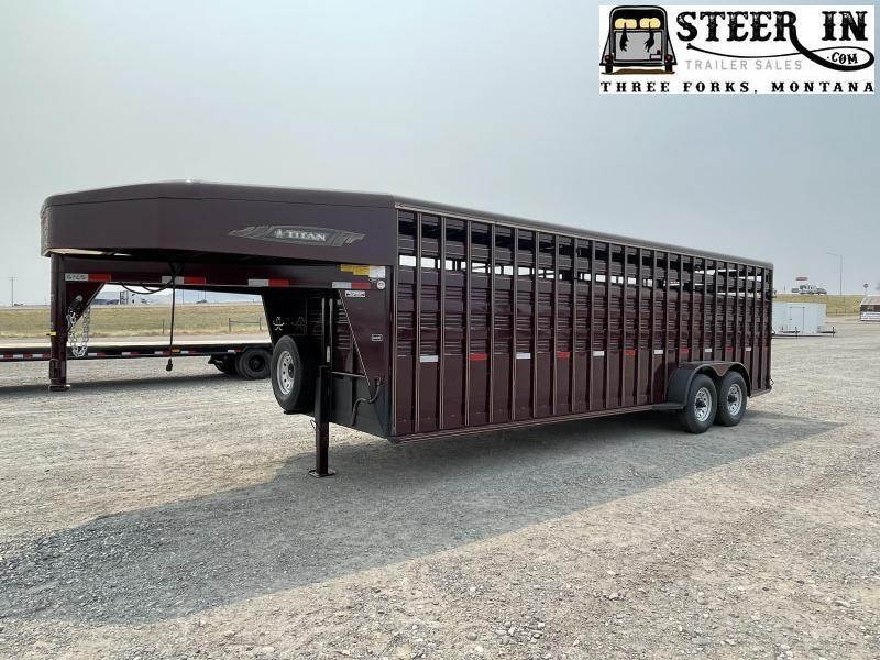 2021 Titan 24' Standard Stock Livestock Trailer