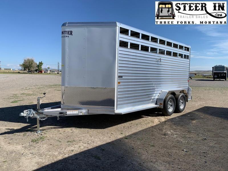 """2021 Frontier 16'7"""" Stock/Livestock Trailer"""