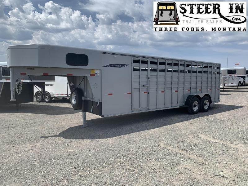 2020 Titan 24' Standard Stock/Combo Livestock Trailer