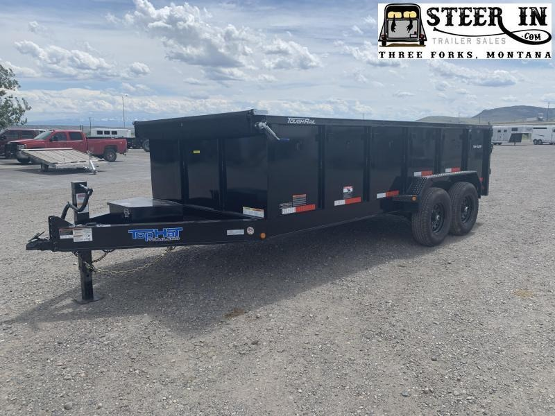 2021 Top Hat 7X16'  Low Profile DPX140 (3' sides)  Dump Trailer