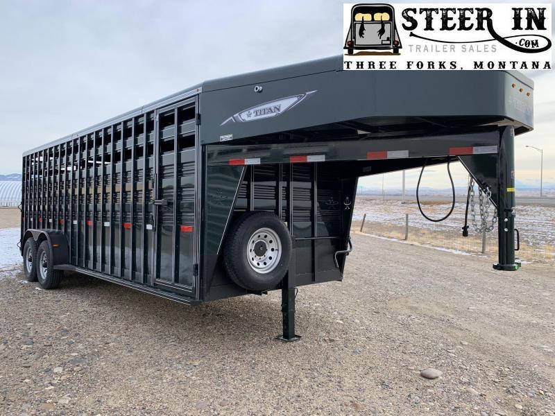 2021 Titan 22' Standard Livestock Trailer