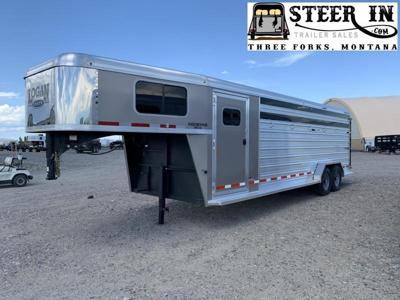 2020 Logan Coach STOCK COMBO 24' GN Livestock Trailer