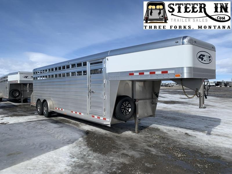 2022 4-Star 24'  Livestock Trailer