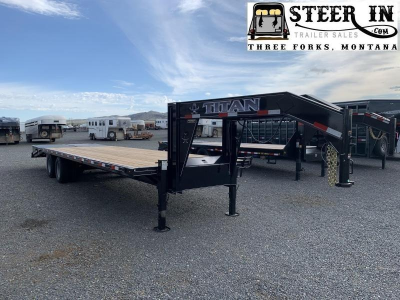 2021 Titan Ruff Neck 30' (24+6) Flatbed Trailer
