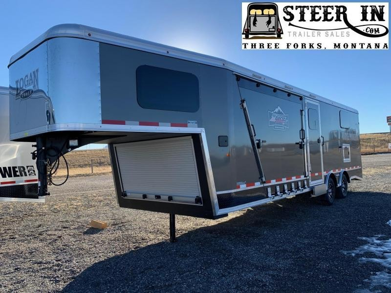 2021 Logan  25' GN- Zbroz Snowmobile Trailer