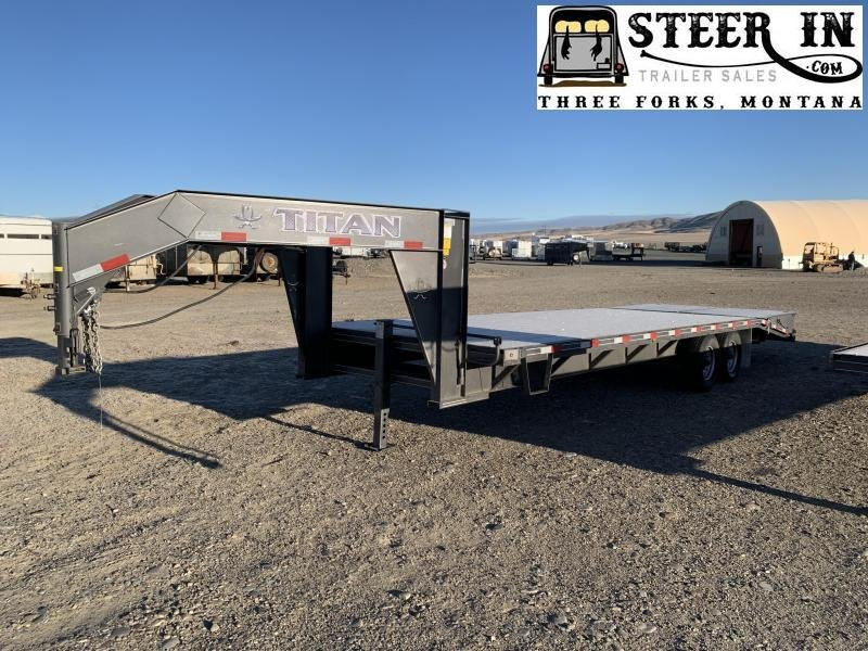 2021 Titan 26' (20+6) Ruff Neck Flatbed Trailer