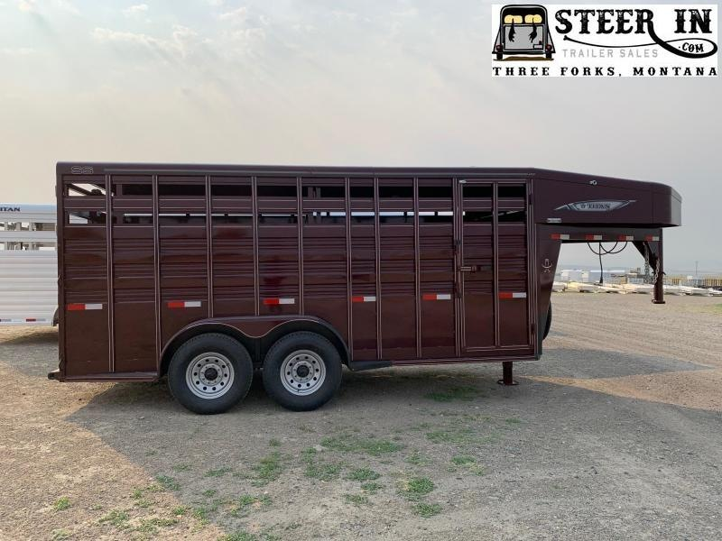 2021 Titan 16' GN Standard Stock Livestock Trailer