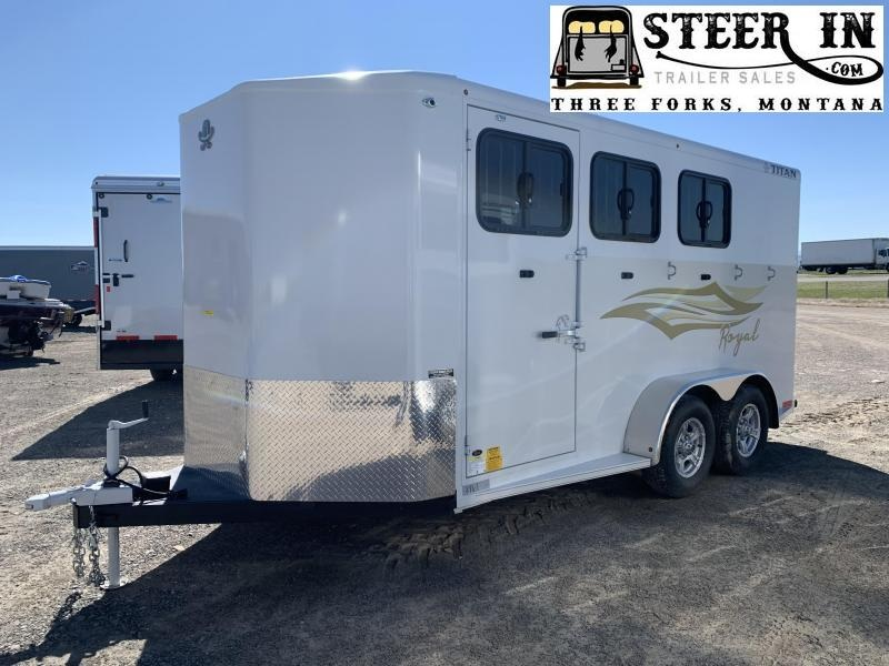 2020 Titan 3H Royal II BP Horse Trailer