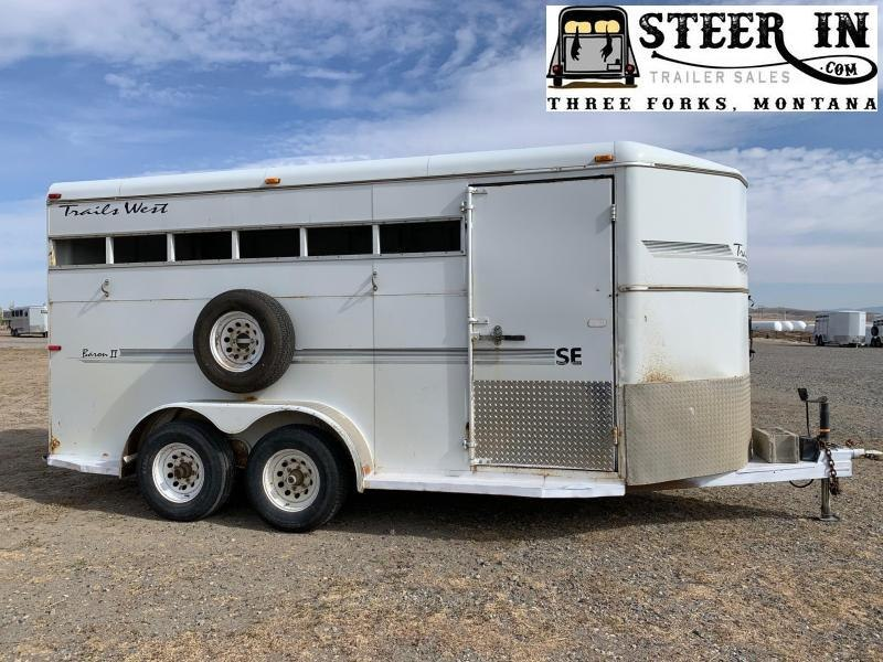 2000 Trails West BARON II 4 Horse Trailer