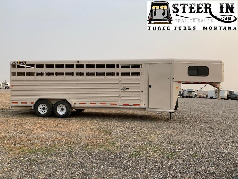 2017 Trails West Hotshot 24' Gooseneck Livestock Trailer