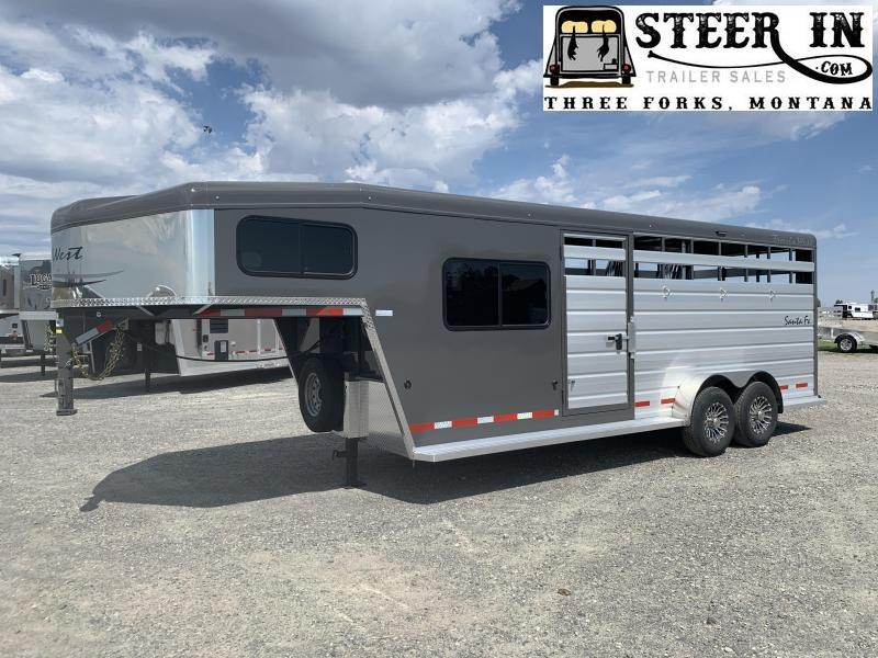 2021 Trails West Santa Fe 21' Stock/Combo Trailer