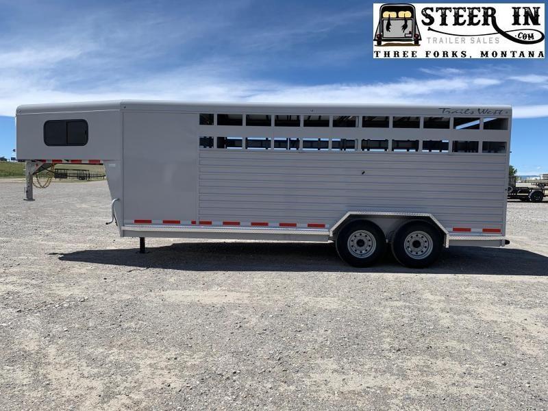 2022 Trails West 20' Stock/Combo Hotshot Livestock Trailer