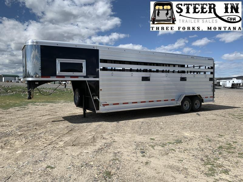Logan Coach 24' Stockman 8' Tall Stock Trailer