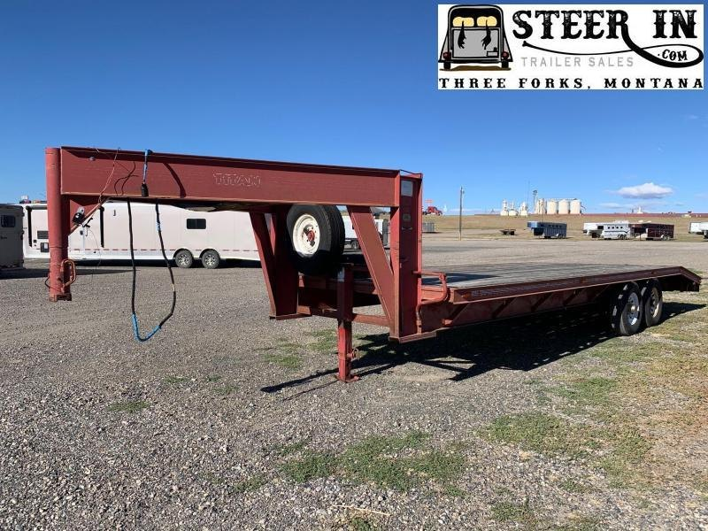 1992 Titan 24' Flatbed Trailer