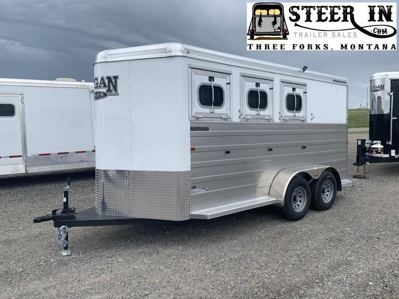2020 Logan Bullseye 3H BP Horse Trailer