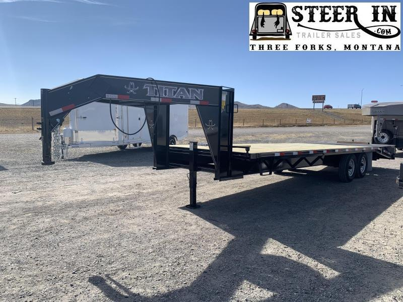 2021 Titan 26 20 6 Flatbed Trailer