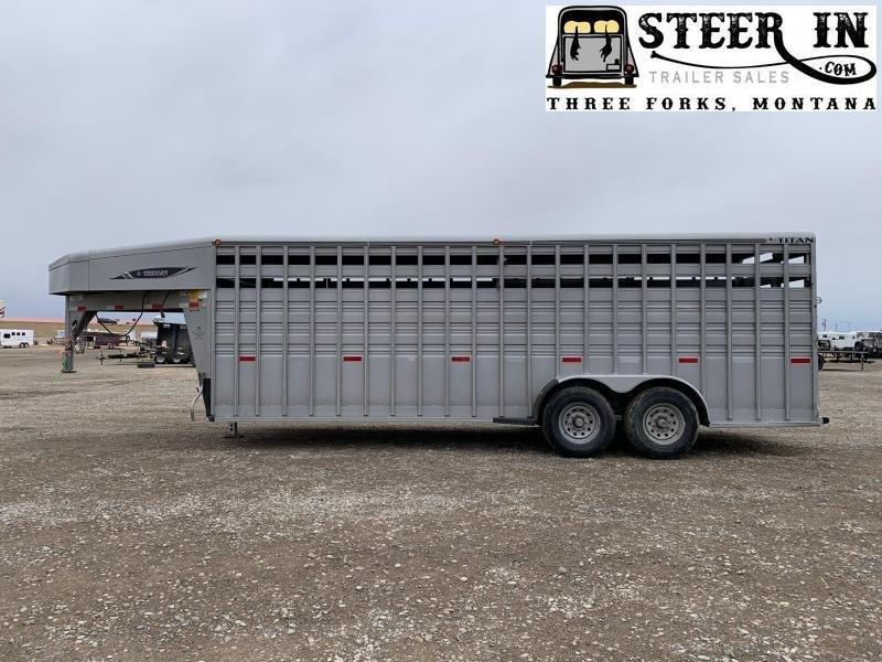 2018 Titan 22' Standard Stock Livestock Trailer