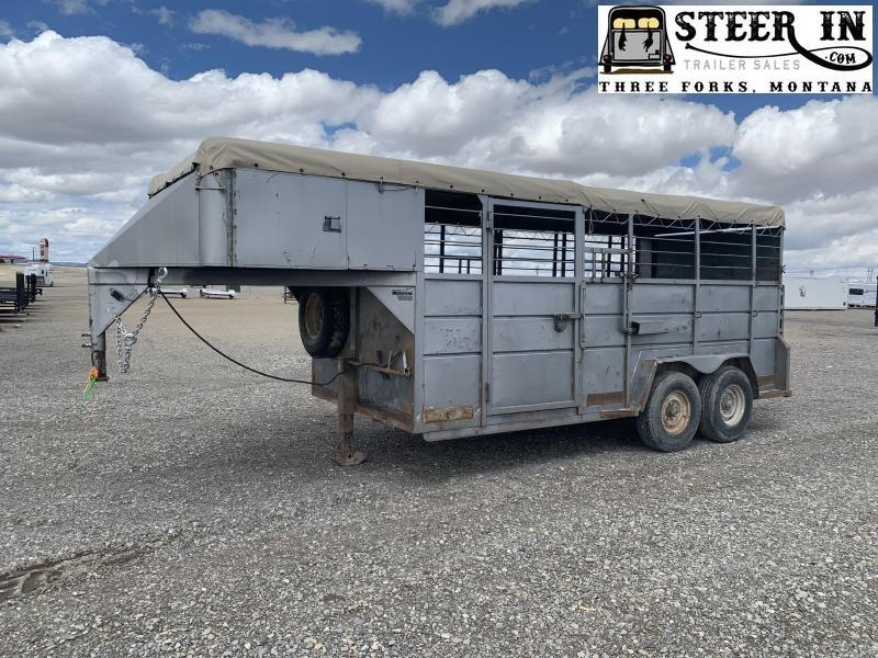 1993 16' Stock Trailer - Tarp Top