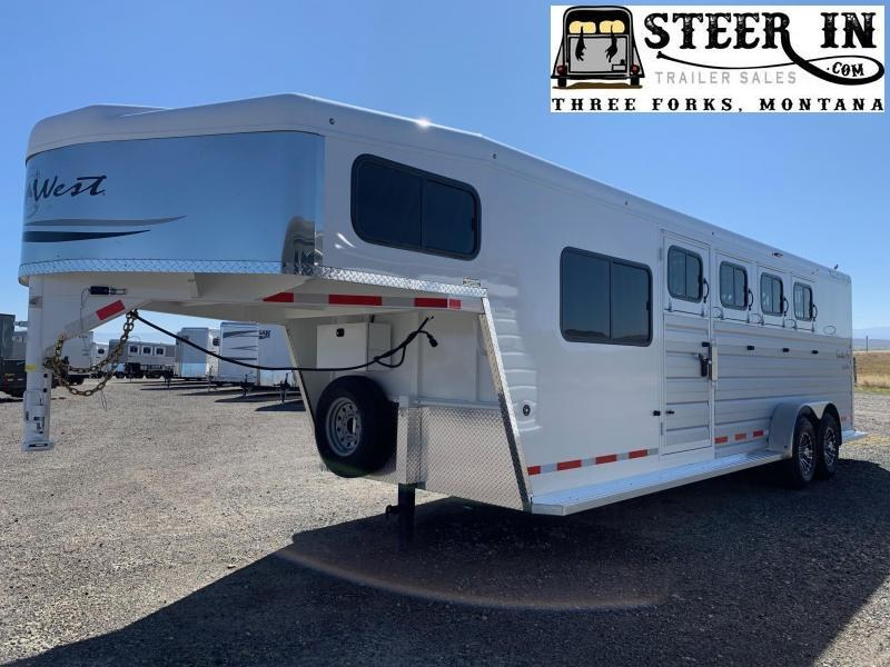 2021 Trails West Santa Fe 24' Stock/Combo Trailer
