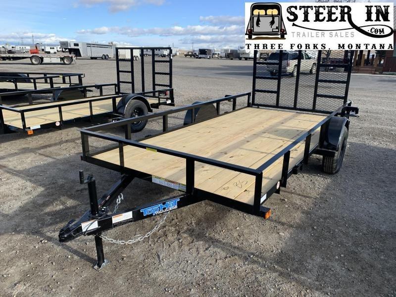 "2021 Top Hat 77""X14' DSA Utility Trailer"
