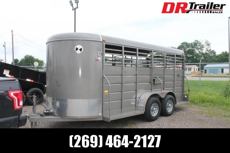 2021 W-W Trailer 16' X 6' 10K GVWR STOCK TRAILER Livestock Trailer