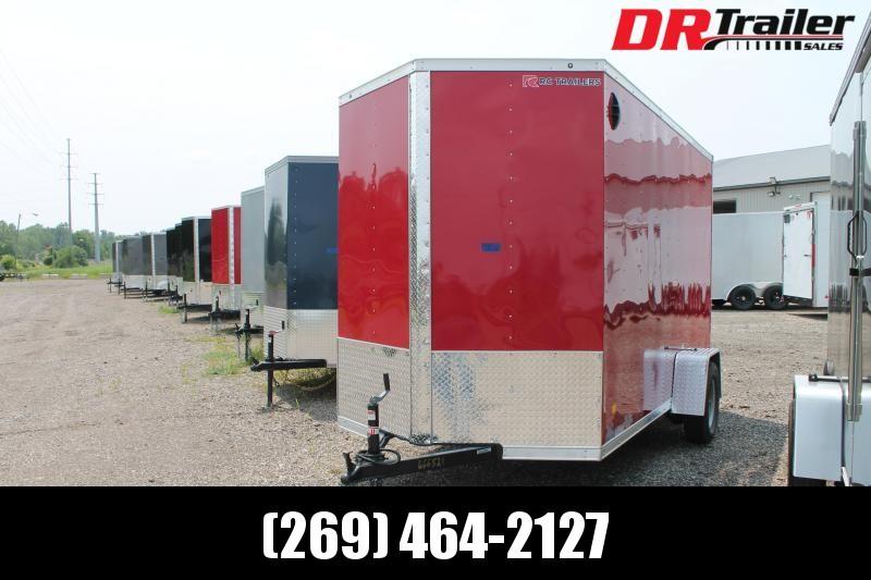 "2021 RC Trailers 6' X 12' + 12"" RD ENCLOSED TRAILER Enclosed Cargo Trailer"