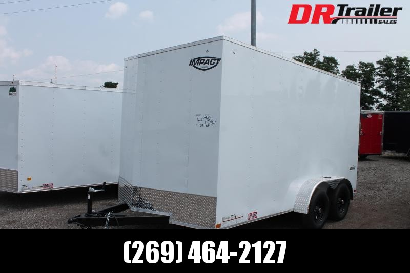 """2022 Impact Trailers 7' X 14' + 12"""" RD ENCLOSED TRAILERS Enclosed Cargo Trailer"""
