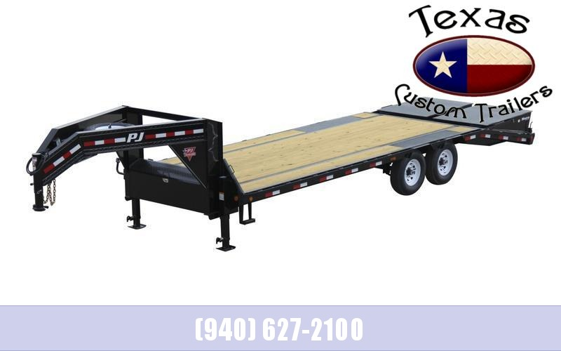 2022 PJ Trailers 25' Low-Pro Flatdeck With Singles Flatbed/Equipment Trailer