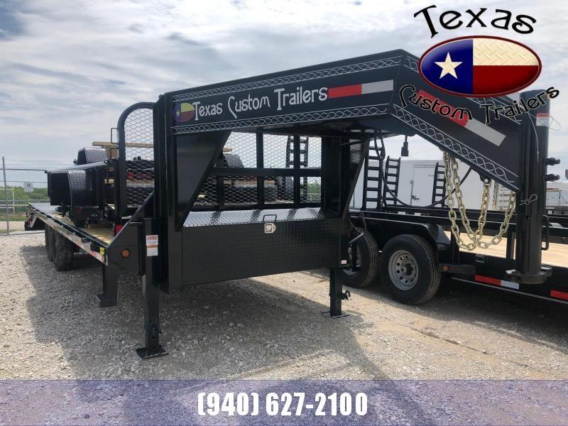 "2021 East Texas 102""X25' Gooseneck HD 14K Deck Over Flatbed/Equipment Trailer"