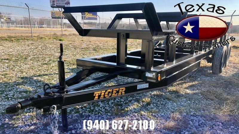 """2022 Tiger 48""""X20' 4-Bale Hay Trailer"""