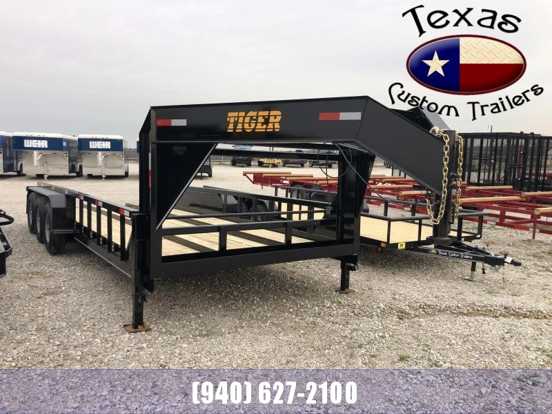 "2021 Tiger Trailer 96"" X 20' GN X-tra Wide Tractor Flatbed/Equipment Trailer"