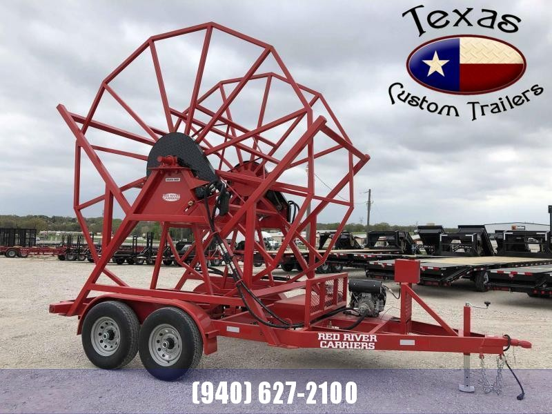 2020 Red River Carrier Poly Pipe Reel Trailer