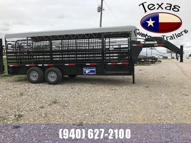 "2020 Gooseneck 20'X6'8"" Steel Livestock Trailer"
