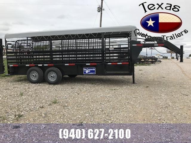 "2021 Gooseneck 20'X6'8"" Steel Livestock Trailer"