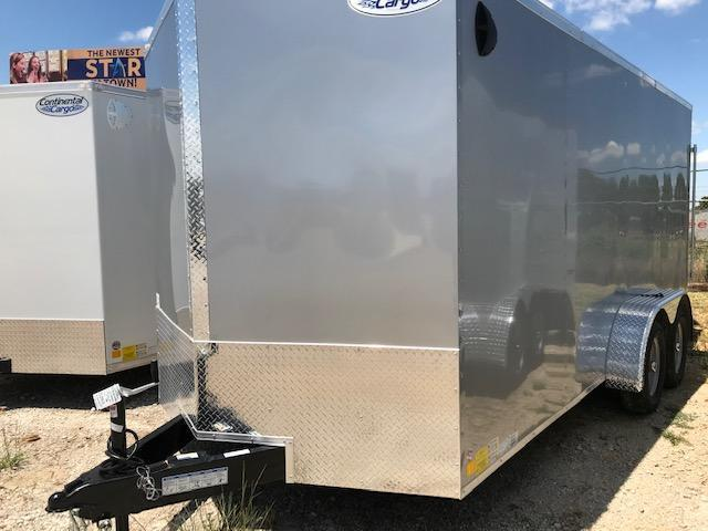 2021 Continental Cargo 7'x16' V-Series Enclosed Cargo Trailer