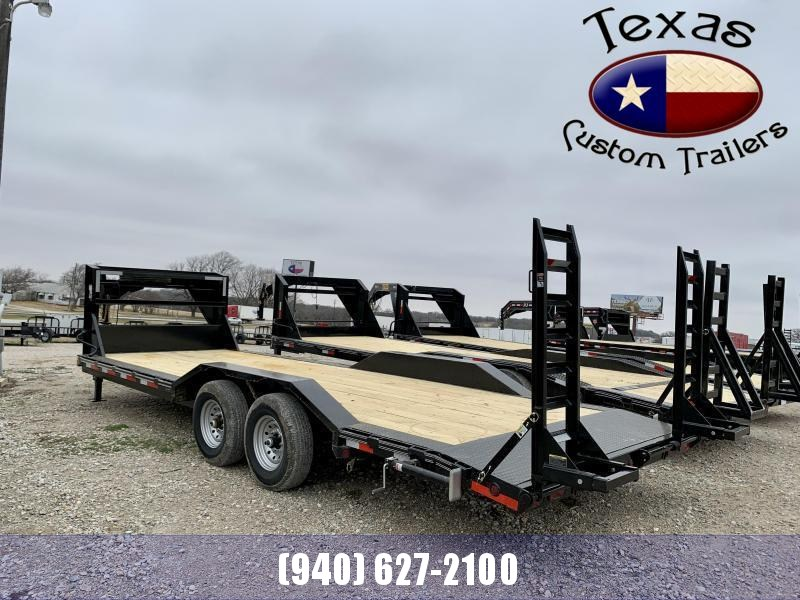 "2021 East Texas 102""X24' Gooseneck Low Boy 14K Flatbed/Equipment Trailer"