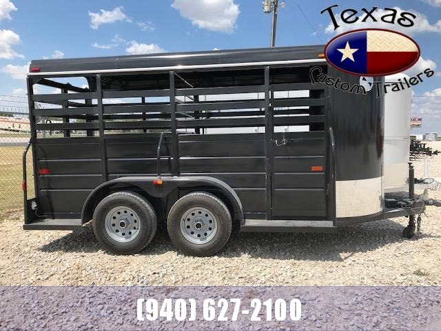 2021 W-W Trailer 14'X5' All Around Livestock Trailer