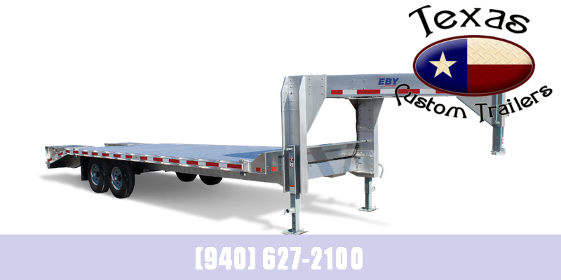 "2021 EBY 24'6"" 15.9K GOOSENECK DECKOVER EQUIPMENT TRAILER"