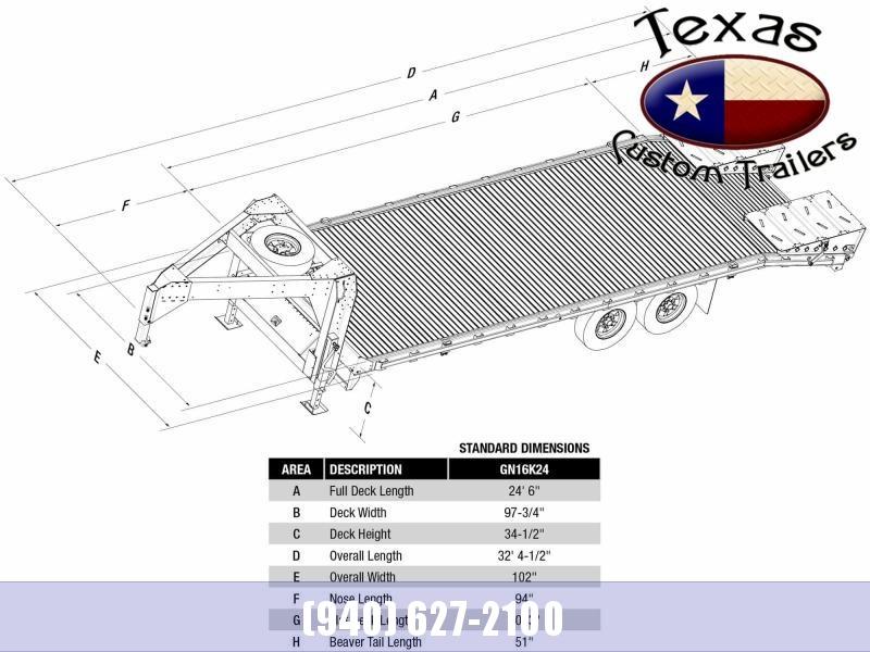 "2021 Eby 24'6"" 15.9K GN DECKOVER Flatbed/Equipment TRAILER"