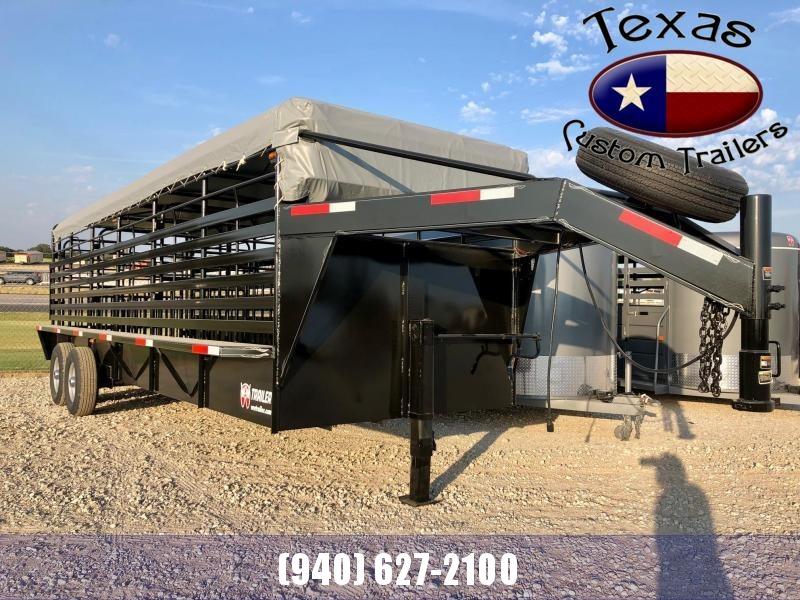 2022 W-W 24'x6.8' Roustabout 14K Livestock Trailer