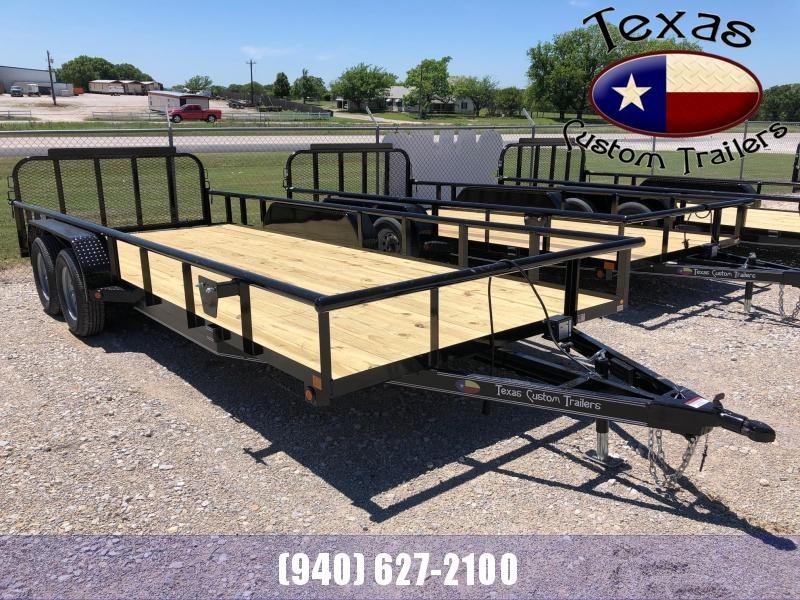 "2021 East Texas 83""x20' 7K Utility Trailer"