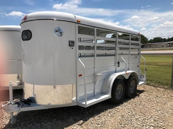 2020 W-W Trailer 14'X5' All Around Livestock Trailer