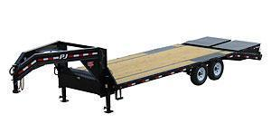 2021 PJ Trailers 25' Low-Pro Flatdeck with Singles