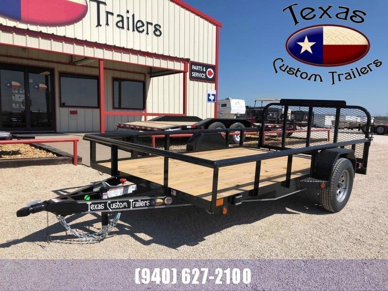 2021 East Texas 77X12 Single Axle 3K Utility Trailer