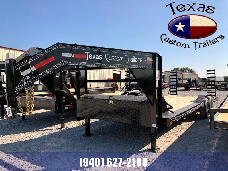 "2022 East Texas 102""X24' Gooseneck Low Boy 14K Flatbed/Equipment Trailer"