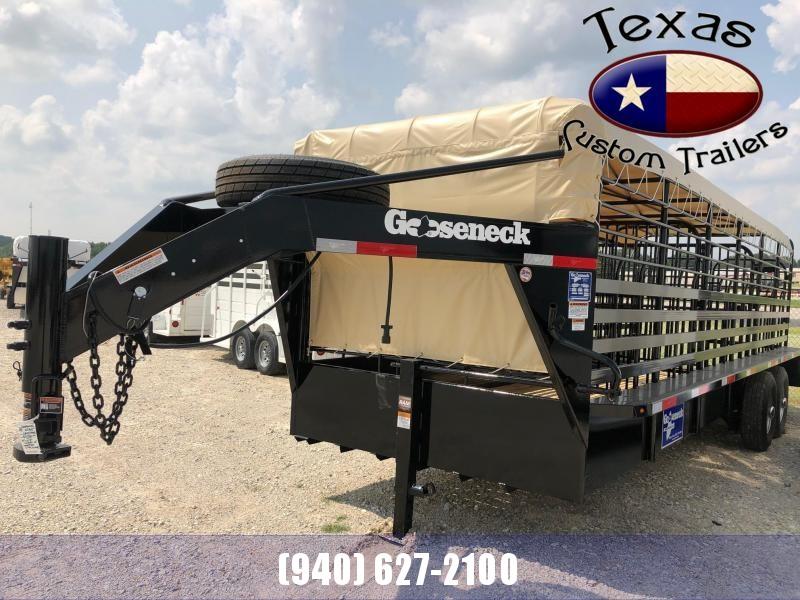 "2021 Gooseneck 24'X6'8"" Steel Livestock Trailer"